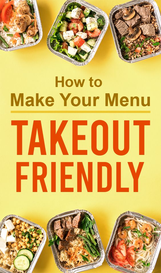How To Make Your Menu More Takeout Friendly In 2020 Menu Restaurant Menu Make It Yourself