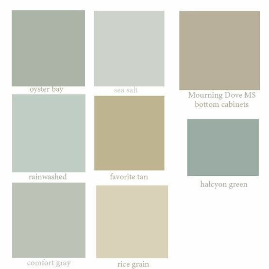 This colors are very neutral and will help you select the for Neutral green paint colors