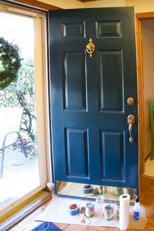 Quick And Easy Front Door Makeover Front Door Makeover Door Makeover Handmade Home Decor