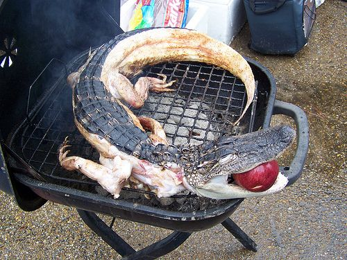 Fried gator to eat! #EsuranceFantasyTailgate A Florida must have.