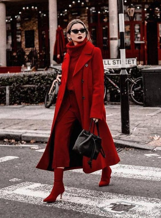 Total look rouge, j'adore ! #red #fashion #mode
