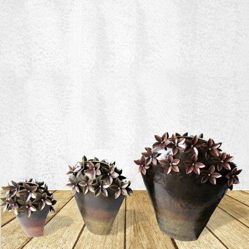 Decoratieve Bloempot Set Van 3 Bloempot