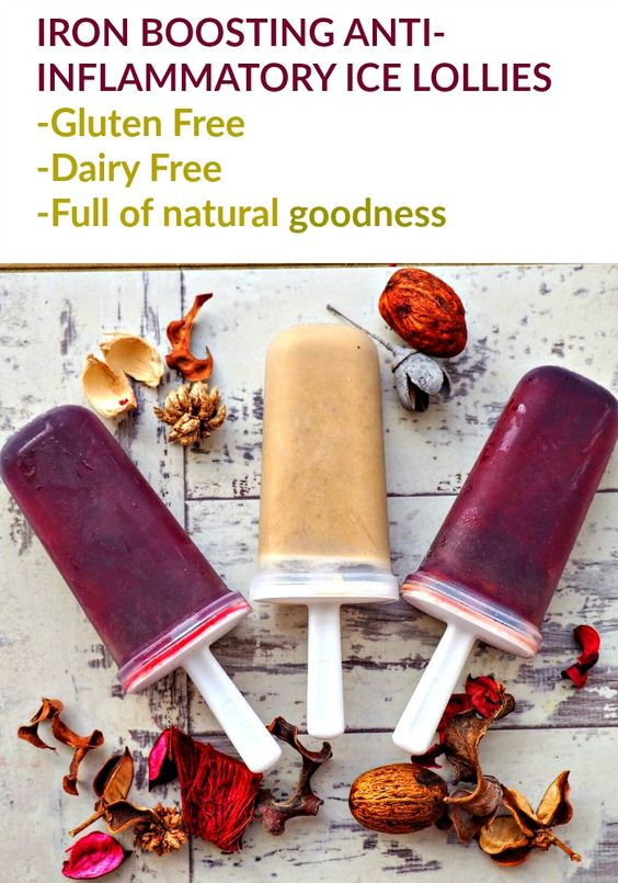 Looking for healthy gluten and dairy free ice lollies? These lollies will improve your health as well as being free from! The veggie lollies contain iron and the smoothie lollies are a great-inflammatory to improve your digest. Try this vegetable juice lolly recipe and smoothie lolly recipe today!