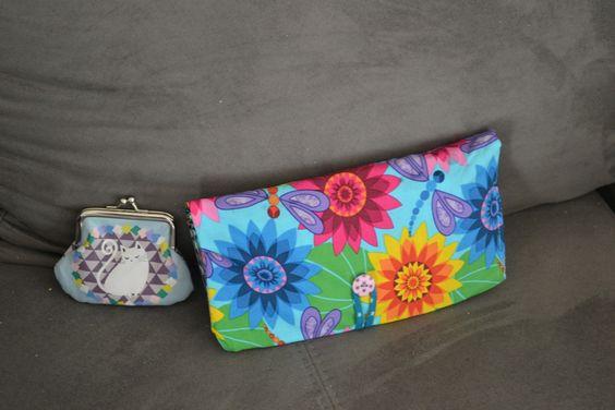 Porte monnaie portefeuilles à fleur avec zip et scratch : Porte-monnaie, portefeuilles par manou92290