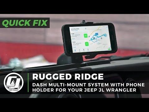Rugged Ridge Dash System Multi Mount With Phone Holder Jeep Wrangler Jl 2018 2020 Gladiator 2020 Jeep Rugged Ridge Phone Holder