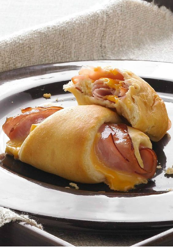 Hot Ham and Cheese Roll-Ups – You'll need just three ingredients to make these easy, cheesy, family-pleasy roll-ups. Soft, warm and flavorful, they're simple to make and simply delicious. If you're looking to warm up this winter, we suggest serving these with soup and a side salad.: