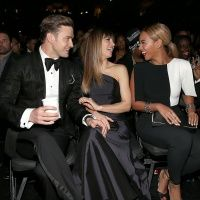 Justin Timberlake, Jessica Biel and Beyoncé at the 55th Annual GRAMMY Awards: Grammy Awards, Jessicabiel Beyonce, Awards 2013, Grammys Justintimberlake, Beyonceknowles Beyonce, 2013 Grammys, Beyonce Grammys