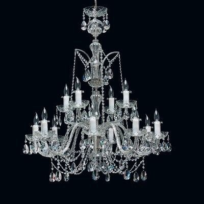 Tomia L 195/12/002 chrome Royal Family Barcelona 12-Light Crystal Chandelier