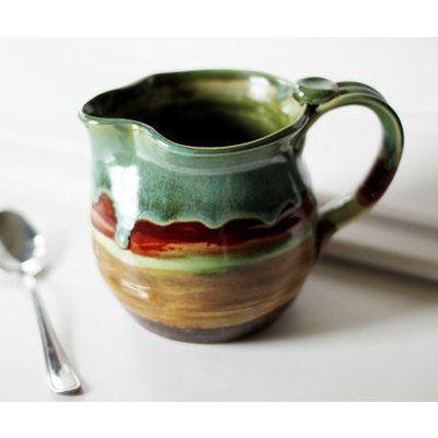 Striped Ceramic Pitcher