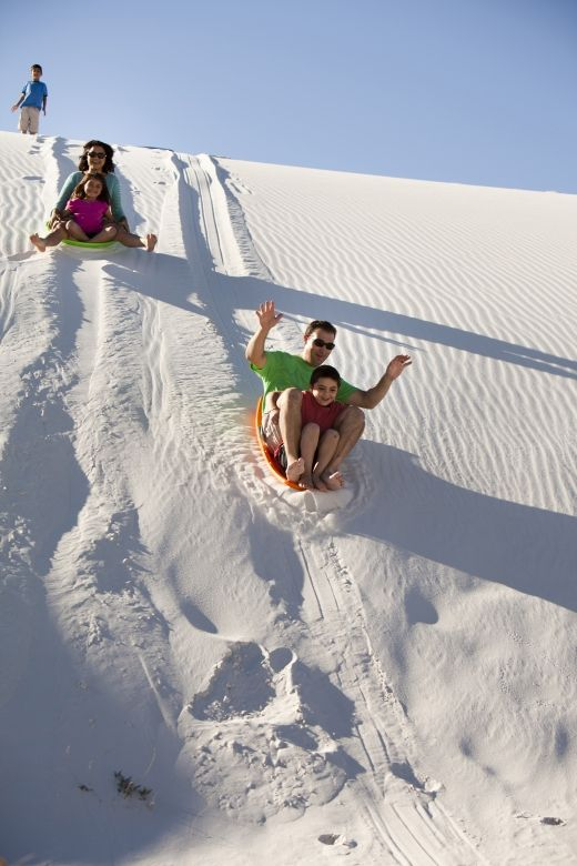 Traying at White Sands National Monument, Photo Credit: Las Cruces CVB  www.thetouroperator.com