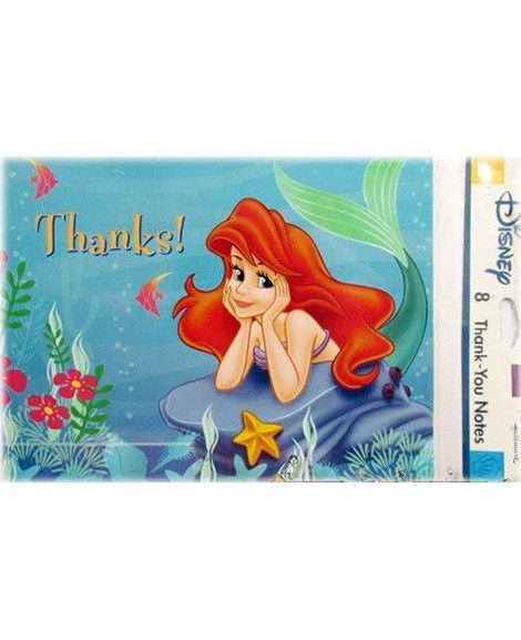 little-mermaid-blue-thank-you-cards