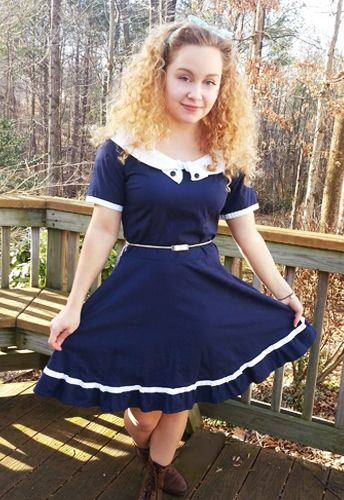 1940s Swing Dress by Amber Middaugh -Standard Size $49.95 Plus Size $55.95-- Save 37% Coupon Code: AMBER37 #Rockabilly #1950 #Vintage