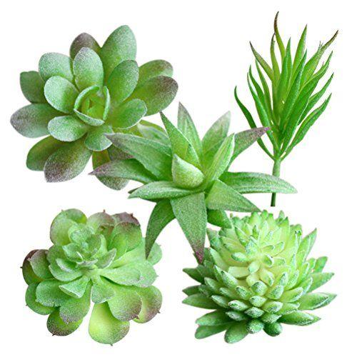 Winomo Lot De 5 Mini Plantes Vertes Artificielles Fausses Plantes Grasses Vertes Succulentes Et Cactus En 2020 Plante Verte Artificielle Plantes Grasses Plante Verte