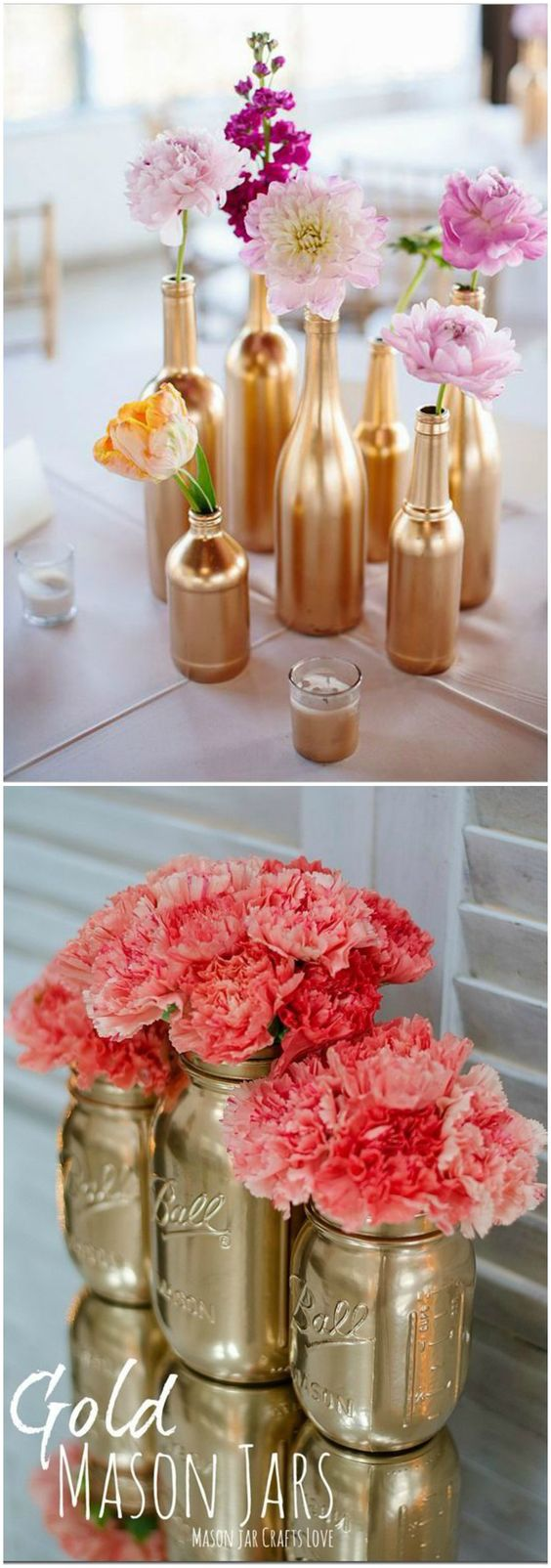 Decorar en dorado diy spray visto en www for Decoracion vintage manualidades