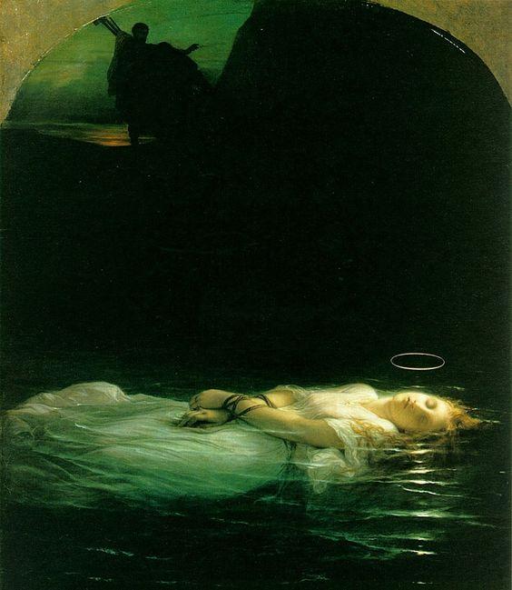 La joven mártir de Paul Delaroche.  Una de mis pinturas favoritas.  Me hipnotizó totalmente cuando la conocí.