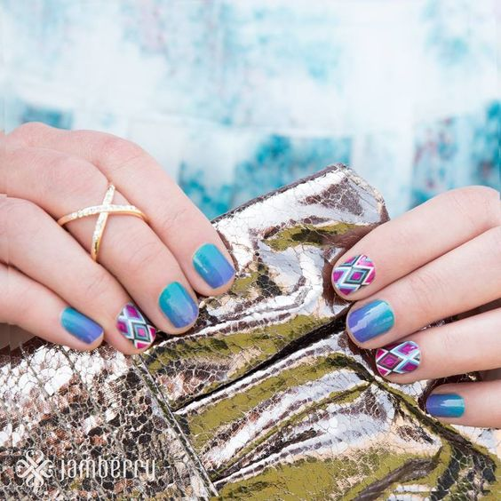 Jamberry Throwback Thursday Love Turple Ombre and southwest diamond