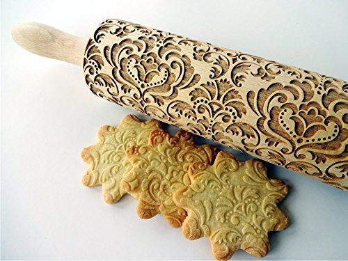 PAISLEY pattern Baking mold Cookies press Baking gift Paisley for embossed cookies PAISLEY Embossing Rolling Pin