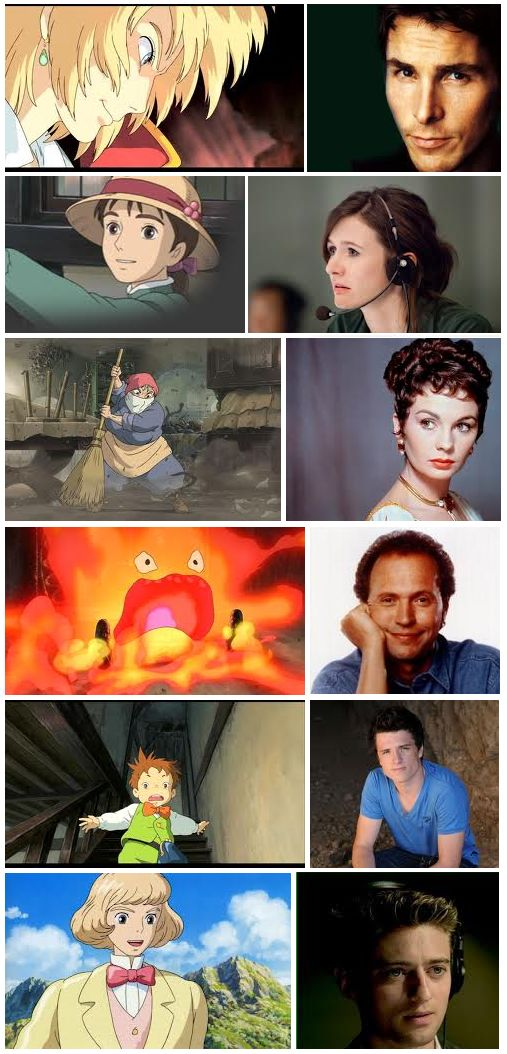 'Howl's Moving Castle' characters & voice actors