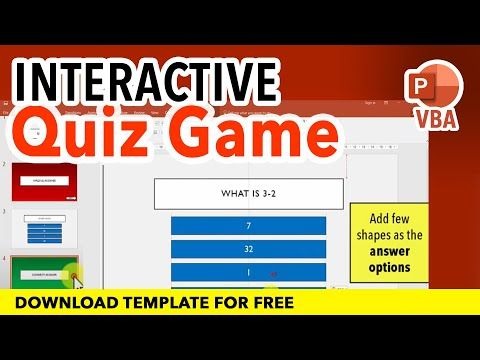 How To Create An Interactive Quiz Game In Powerpoint Tutorial Youtube Powerpoint Tutorial Interactive Interactive Powerpoint