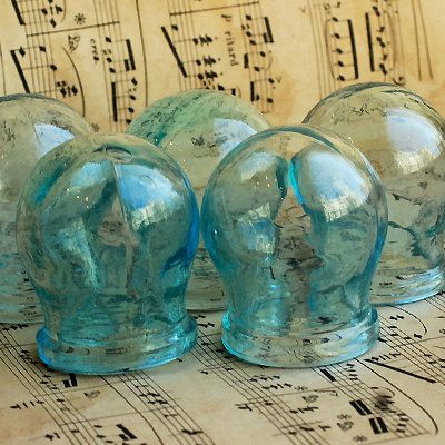 Gives me the w I l l I e s ...vintage medical apothecary cupping jars