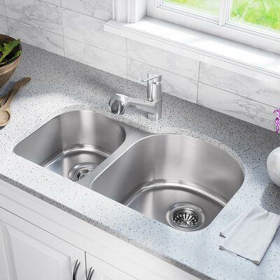 Mrdirect Stainless Steel 31 X 20 Double Basin Undermount Kitchen
