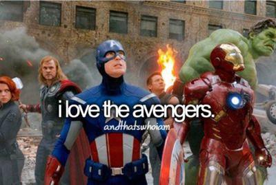 i love the avengers.