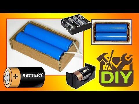 Battery Holder For 4 And 8 Aa Size Batteries 6v And 12v Output Youtube Electronics Basics Batteries Diy Battery Holder