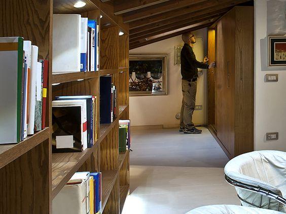 Libreria su misura. per ottimizzare al meglio gli spazi di questa ...
