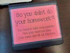 I didn do my homework form
