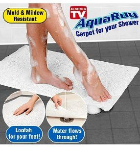 Amazon.com - Aquarug As Seen On TV Shower Carpet - Contour Bath Rugs