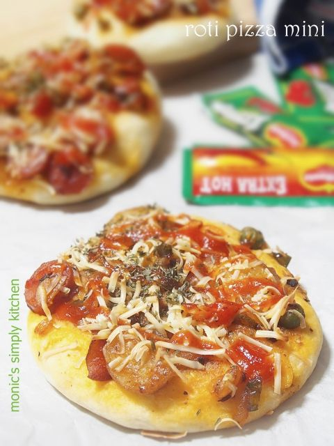 Roti Pizza Mini Tanpa Ulen Resep Makanan Makanan Dan Minuman Resep Roti