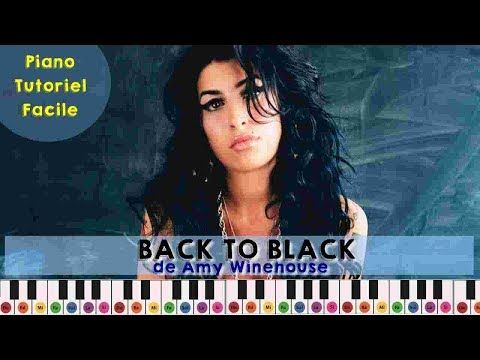 Amy Winehouse Back To Black Piano Tuto Facile Youtube