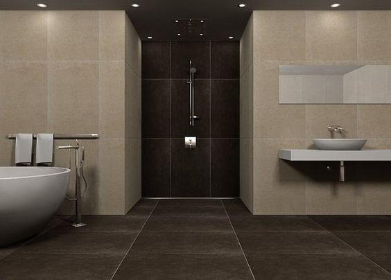 geschickt badezimmer modern beige grau Vorstellungsgespräch