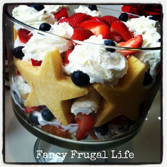 Fancy Frugal Life: 4th Of July Trifle Recipe