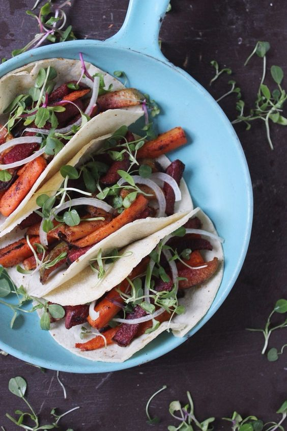Roasted Root Veggie Fajitas | withfoodandlove.com | #glutenfree #vegan