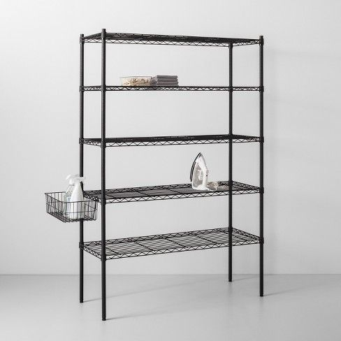 5 Tier Wide Wire Shelf Made By Design Shelves Wire Shelving