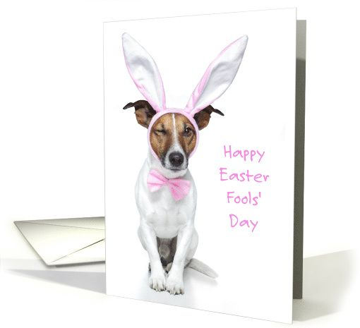 Jack Russell Terrier Easter Card PERSONALISATION AVAILABLE