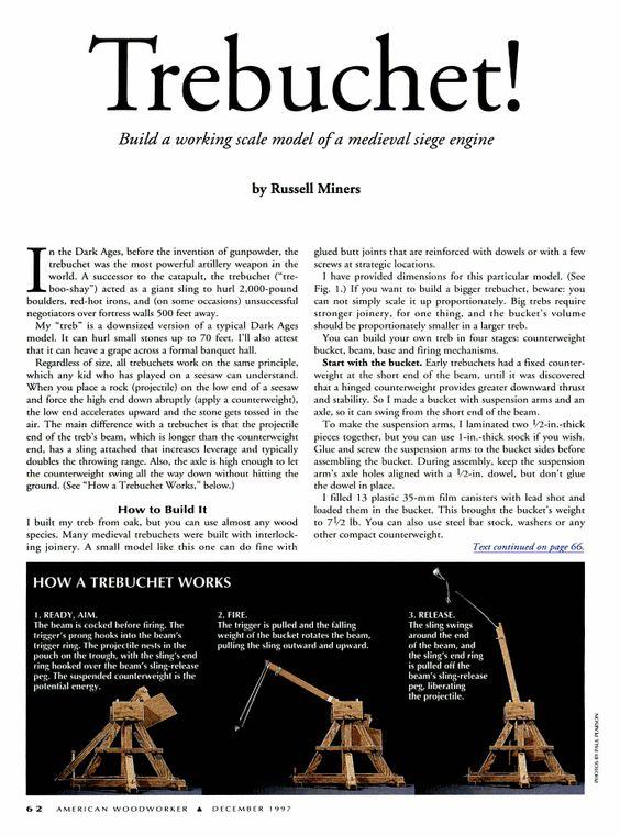 What Is a Trebuchet? Essay Sample