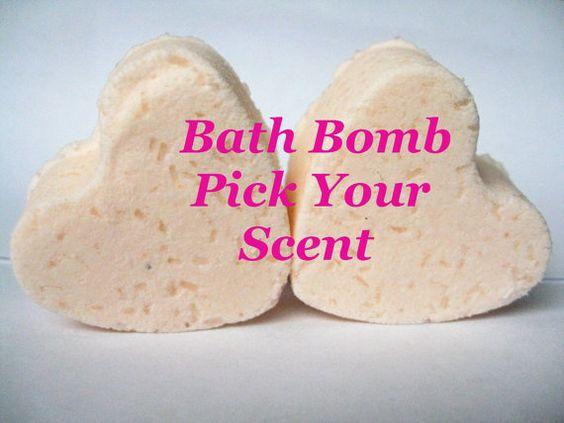 10 Personalized Bath Bomb heartsCustom Stocking by TheSudsCafe