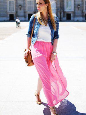 nery Outfit  zara inlovewithfashion maxi-skirt  Primavera 2013. Cómo vestirse y combinar según nery el 4-6-2013