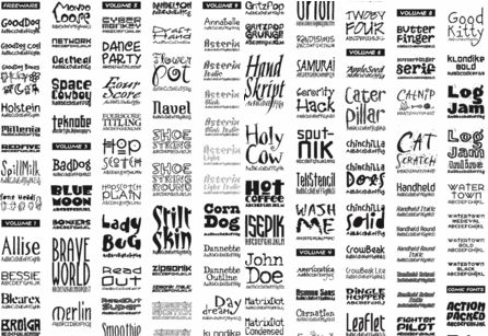 tons o' fonts