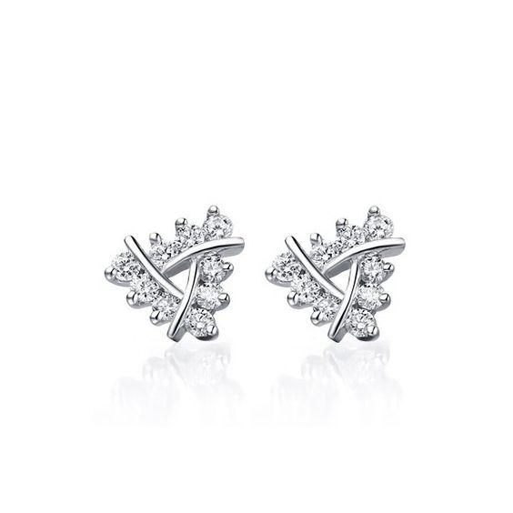 1 Carat Diamond Earrings on 10k White Gold