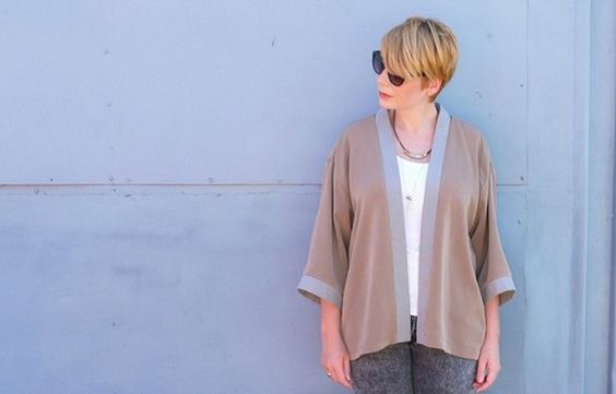 Tutorial: Modern kimono jacket from a man's shirt