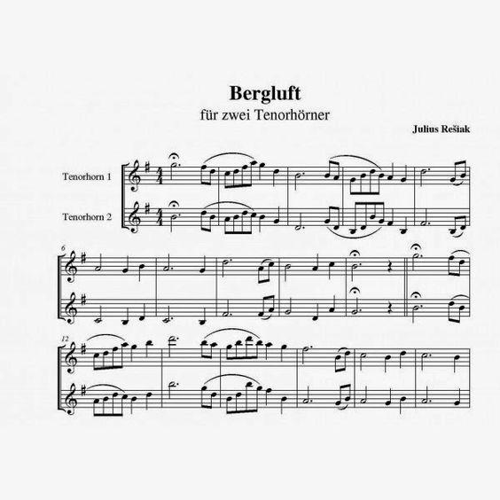 """Bergluft"" Tenorhorn Duett"