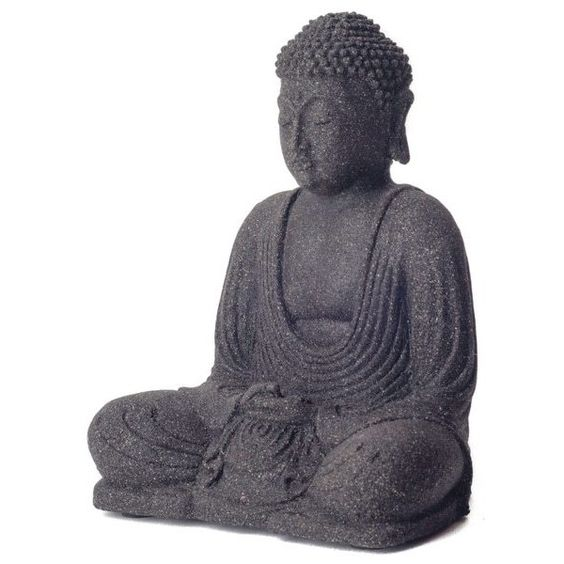 Garden Buddha Sculpture (Indonesia) ($51) ❤ Liked On Polyvore Featuring  Home,