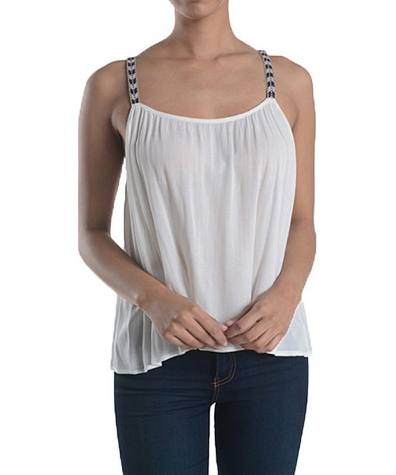 Love this Ivory Fletching Scoop Neck Tank by Chris & Carol on #zulily! #zulilyfinds