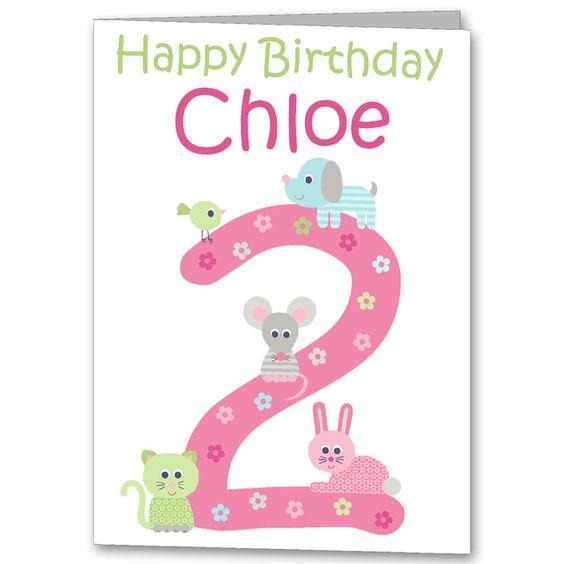 Personalised Girls Animal Birthday Card 1st 2nd 3rd 4th 5th – Personalised Birthday Cards for Kids