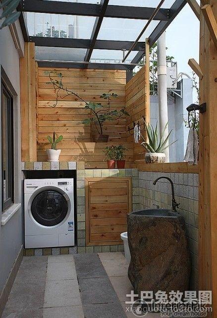 Small apartment balcony laundry facilities renovation for Balcony renovation