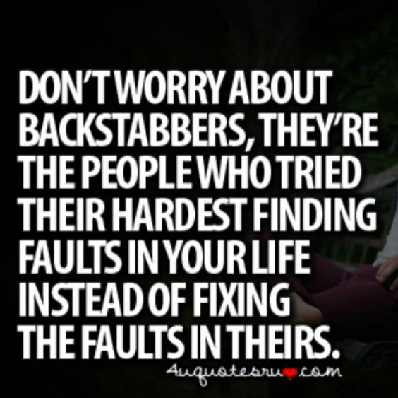 Real Quotes About Haters: Backstabbing Haters Quote