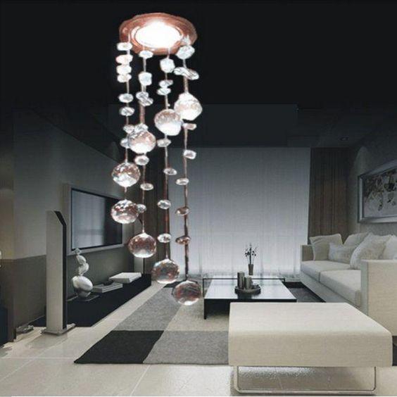 NEW 2014 3W LED-Lichter Kristall-Kronleuchter Moderne Kristall - deckenlampen wohnzimmer modern